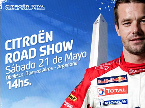 Loeb te invita a presenciar el road show de Citroën en el Obelisco