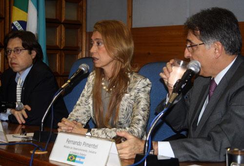 Bianchi, Giorgi y Pimentel en Brasilia.