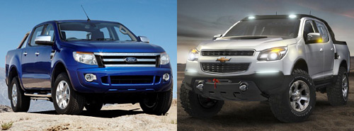Ford Ranger y Chevrolet Colorado Rally Concept