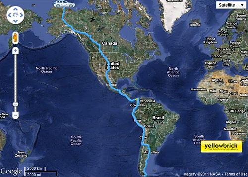 El mapa del recorrido de la TDI Panamericana.
