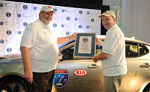 Kia logró un nuevo récord Guinness en economía de combustible