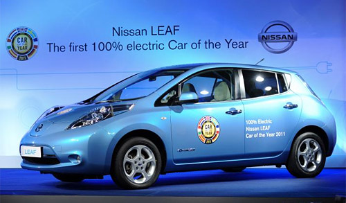 Nissan Leaf ganador del Car of the Year 2011