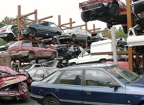 Planta de scrap europea utilizada para la destrucción de vehículos.