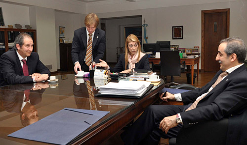 Echeagaray, Giorgi y Moreno en el Ministerio de Industria.