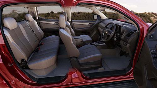 Chevrolet Colorado doble cabina presentada en Tailandia. Foto: GM