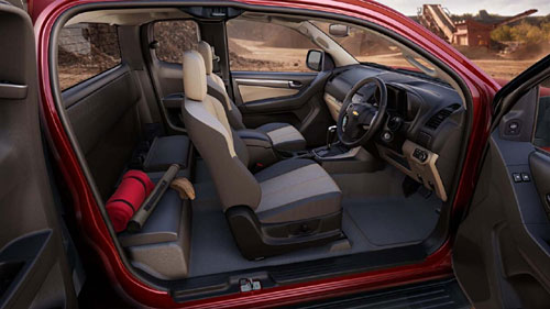 Chevrolet Colorado cabina extendida presentada en Tailandia. Foto: GM