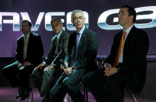 Conferencia de prensa de GM en el evento de Aveo G3.