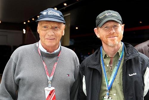 Niki Lauda y Ron Howard - Foto: Formula1.com