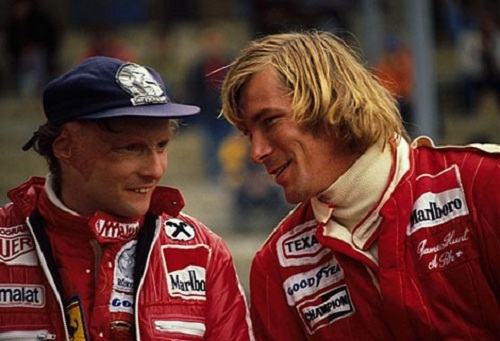 Niki Lauda y James Hunt en la temporada 1976.