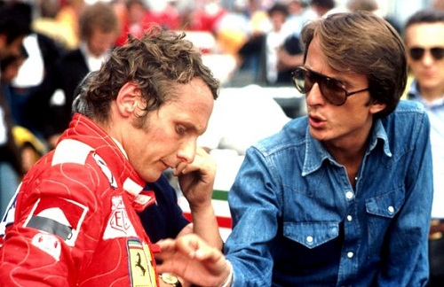 Niki Lauda y Luca Di Montezemolo en 1975. Foto: Sutton Images