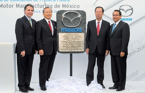 Mazda comenzó a levantar su primera planta en México