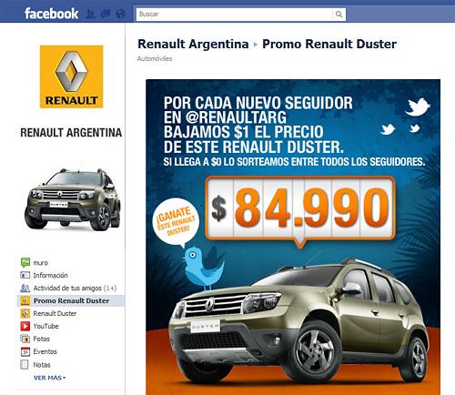 Promo Renault Duster en Twitter