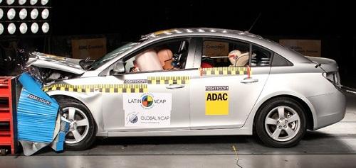 Chevrolet Cruze en los ensayos de LatinNCAP.