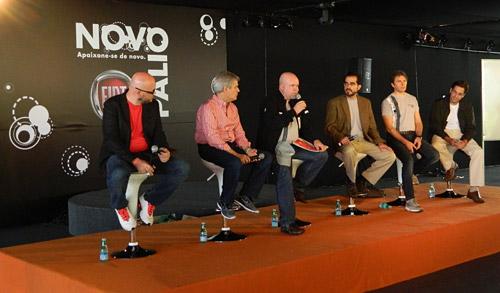 Conferencia de prensa de Fiat en Belo Horizonte.