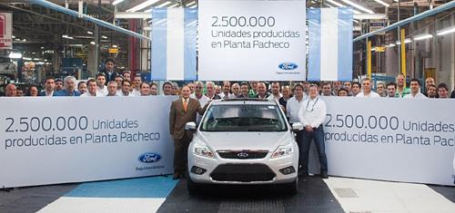 2.5 millones de unidades producidas por Ford en Pacheco.