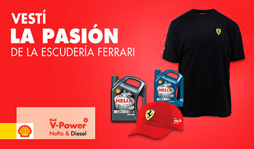 Shell Argentina lanza una promoción para fanáticos de Ferrari