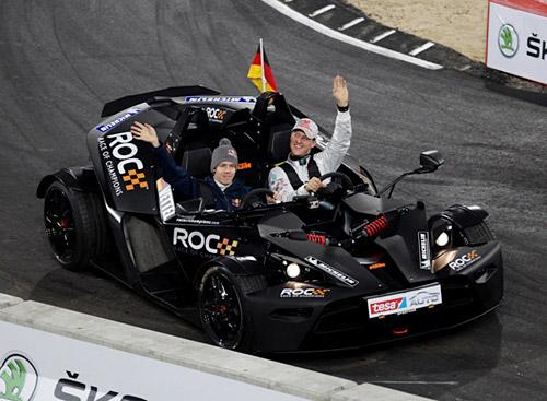 Vettel y Schumi en la Carrera de Campeones 2011.
