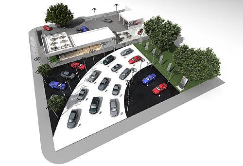 Stand de Audi en Pinamar para 2012.