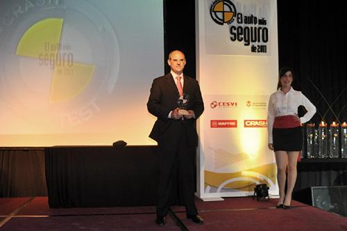 Carlos Galmarini, de Ford Argentina, en el evento del Auto más Seguro 2011