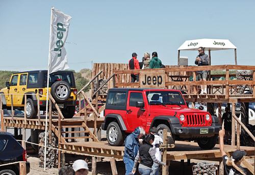 Jeep con fuerte presencia Pinamar, Cariló y Punta del Este