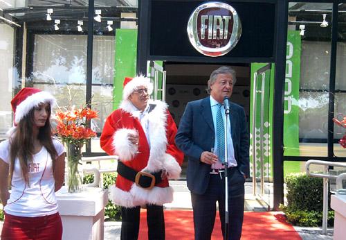 Cristiano Ratazzi, titular de Fiat Auto Argentina junto a Javier Vernengo, Director Relaciones Externas y Comunicación de la marca.