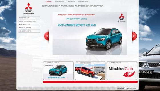 Mitsubishi Argentina renovó su sitio web.