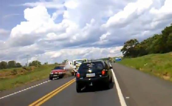 Accidente en San Pablo entre Bauru e Ipaussu.