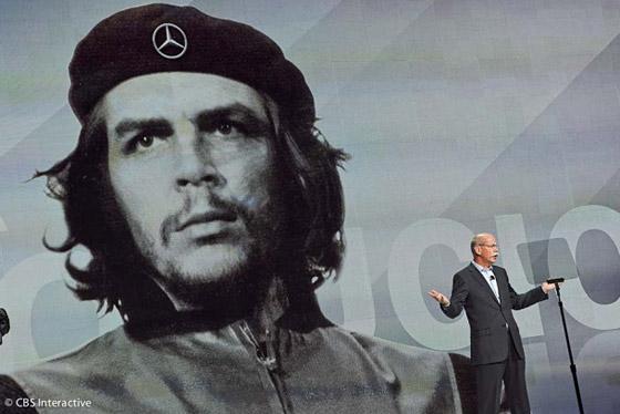Mercedes-Benz usó la imagen del Che Guevara.