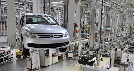 Producción del Volkswagen Gol Trend.