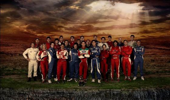 Los pilotos de la temporada 2012 del rally argentino.