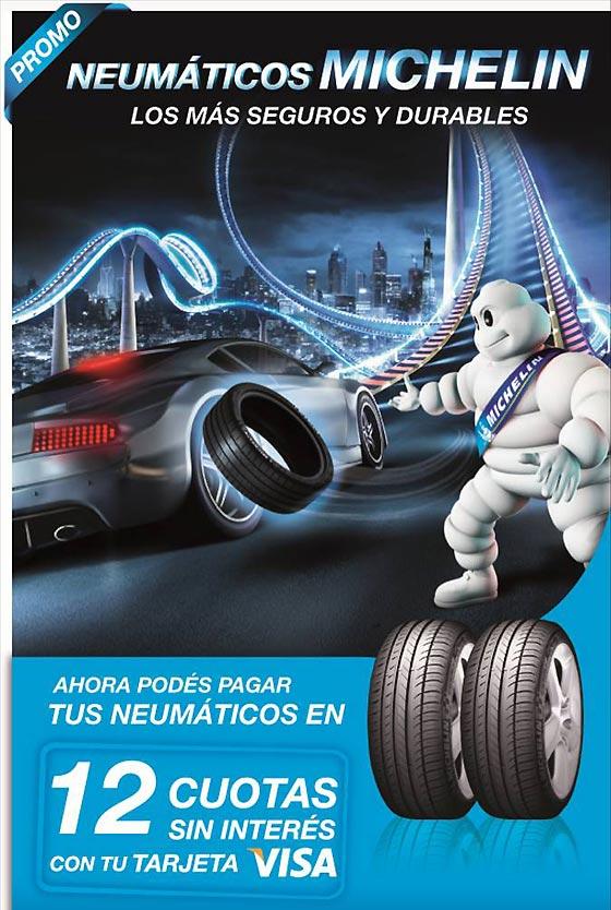 Promo Michelin para neumáticos de autos y camionetas.