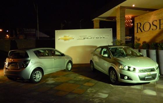 Presentación a la prensa del Chevrolet Sonic.
