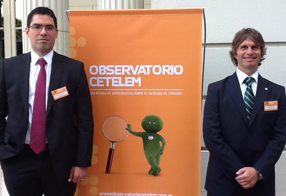 Franck Vignard-Rosez y Pablo Ardanaz Gómez en la presentación del Observatorio Cetelem.