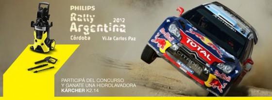 Kärcher lava los autos del Rally Argentina 2012