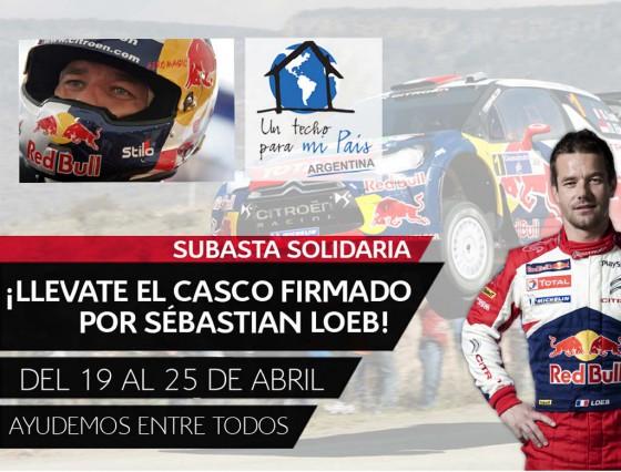 RSE en Argentina: Loeb subastará su casco y Citroën donará un C4