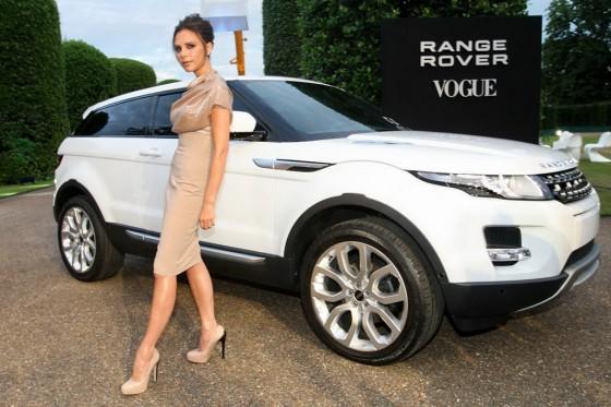 El Range Rover Evoque y Victoria Beckham.