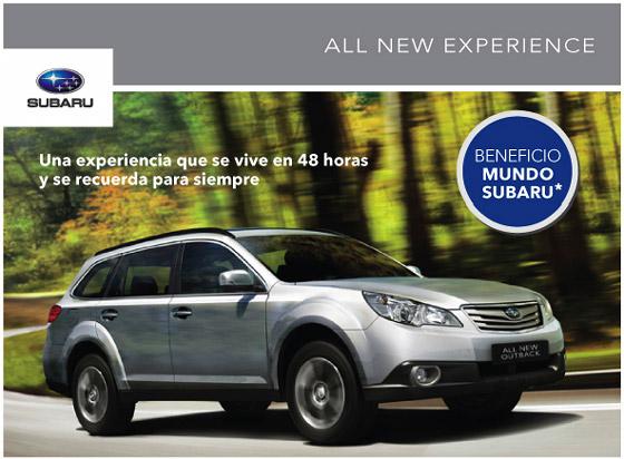 Subaru inició una serie de test drive del Outback para sus clientes