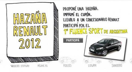 Proponé tu hazaña Renault y ganate el primer Fluence Sport de Argentina