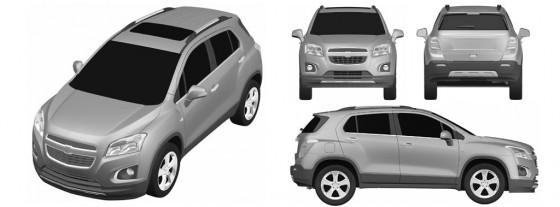 Dibujos de la Chevrolet Enjoy en la oficina de patentes europea.