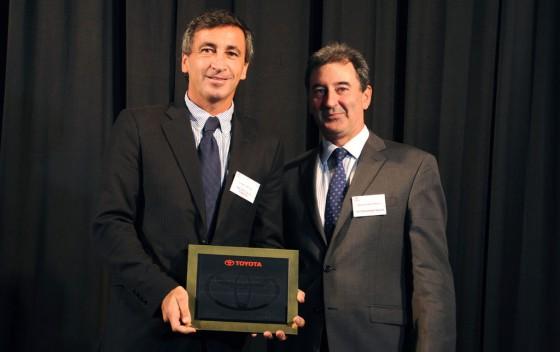 Guillermo Minuzzi, presidente de Tenneco Sudamérica y  Daniel Herrero, titular de Toyota Argentina.