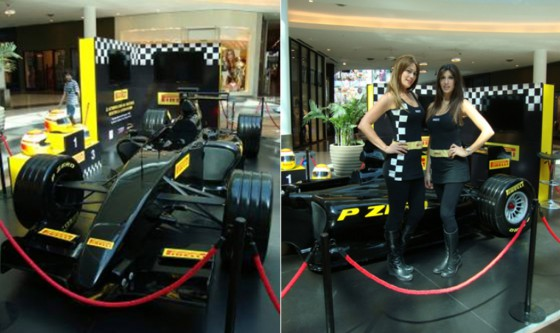 Simulador del Pirelli F1 Experience