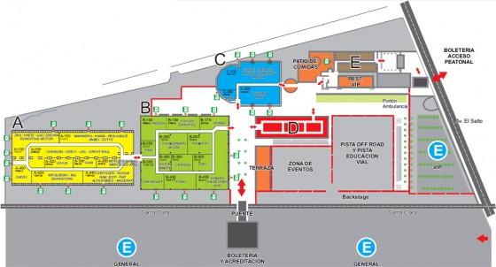 Plano del XII Salón del Automóvil Santiago 2012