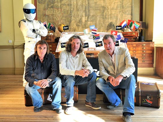 Richard Hammond, James May, Jeremy Clarkson y Stig (el tester enmascarado).