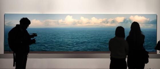 """""""Mar II"""", la obra de Helmut Ditsch que batió el récord para un artista argentino."""