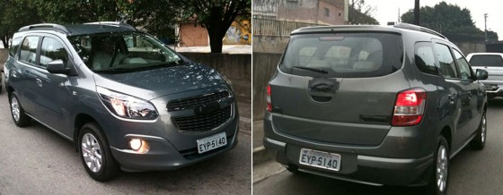 Chevrolet Spin en pruebas por Brasil. Fuente: Autosegredos
