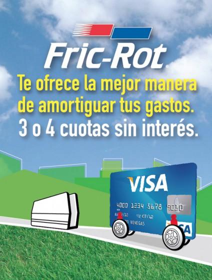 Promo Fric-Rot: amortiguadores hasta en 4 cuotas sin interés con Visa