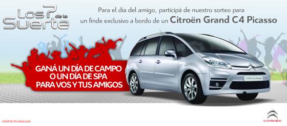 Citroën Argentina te presta un Grand C4 Picasso para el Día del Amigo