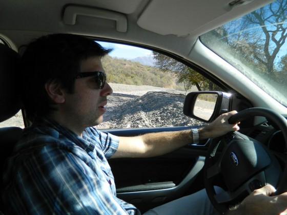 Máxima concentración en mis primeros metros al volante.