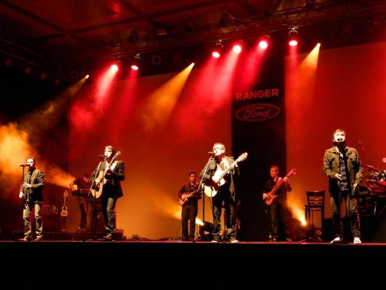 Los Nocheros en el evento de Ranger en Salta.