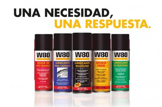 Línea de lubricantes en aerosol W80 de Anaeróbicos.
